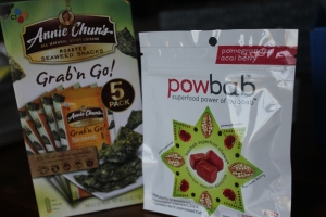 This is my second box of the seaweed snacks (haven't been brave enough to try it yet) but the powbab chews are pretty delicious