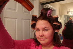 Blow dry the rollers on high heat but low power, and let sit for 10-15 minutes