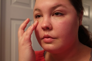 Cover up any blemishes and dark circles.