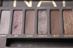 For my eyes I used my Urban Decay Naked Palate in Naked and Sidecar.