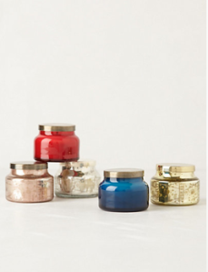 Mini Capri Blue Candle Jar. $12.http://www.anthropologie.com/anthro/product/shopgifts-hostess/28981728.jsp?cm_sp=Fluid-_-28981728-_-Regular_2