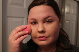 I started with a clean, moisturized face and did my usual foundation routine. I applied bronzer, and my Coralista blush