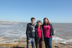 My brother, grandma and me